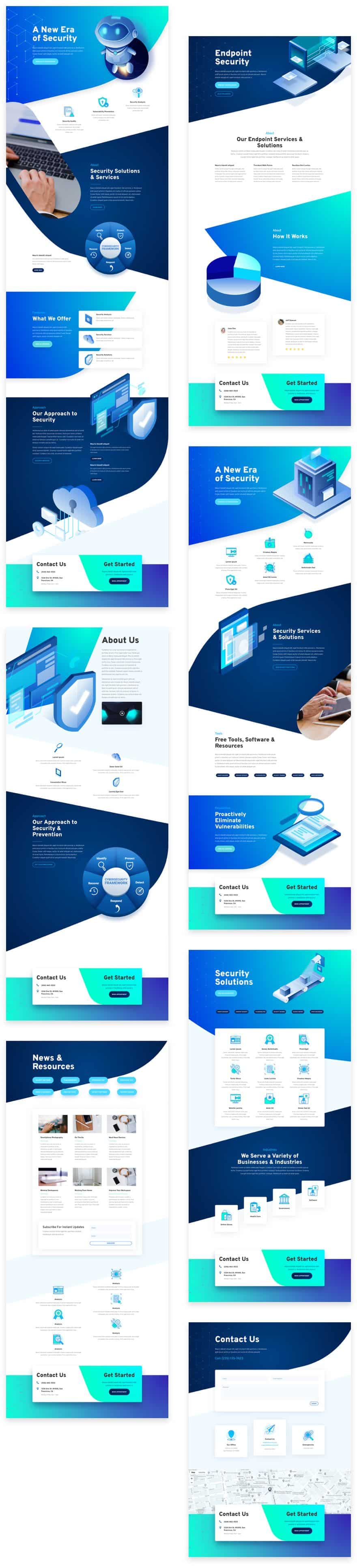 Cyber Security Divi Layout Pack
