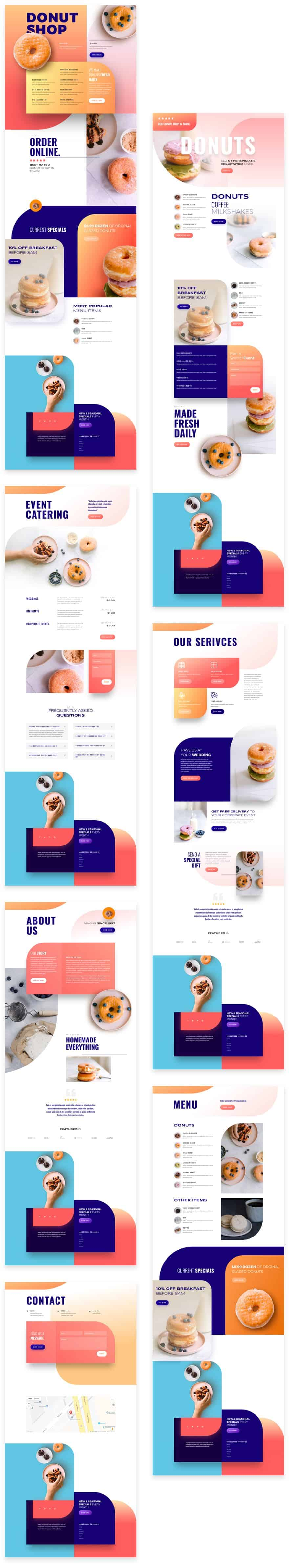 Donut Shop Divi Layout Pack