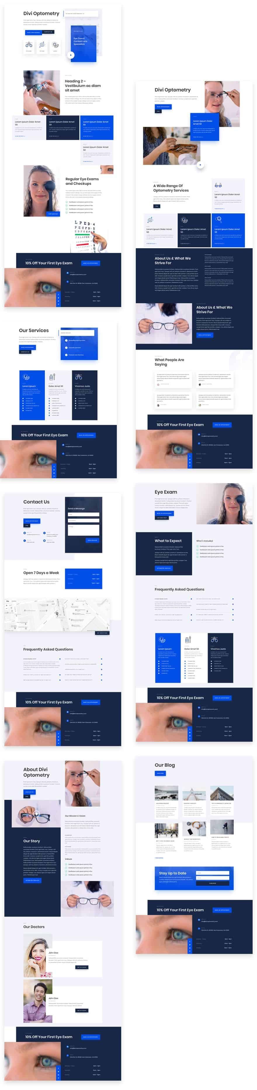 Eye Doctor Divi Layout Pack
