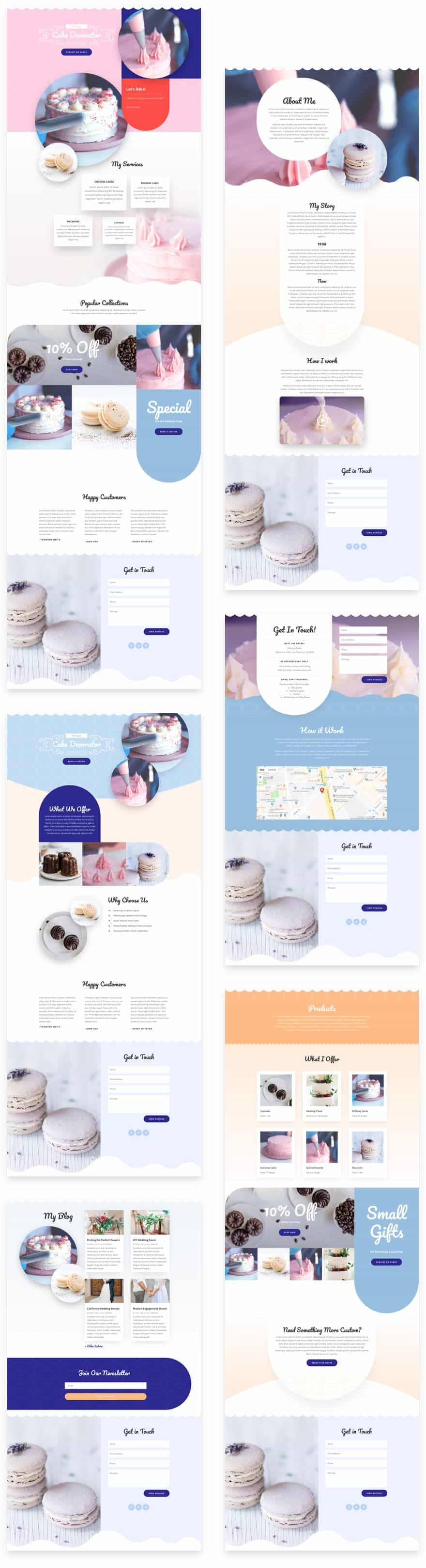 Cake Maker Divi Layout Pack
