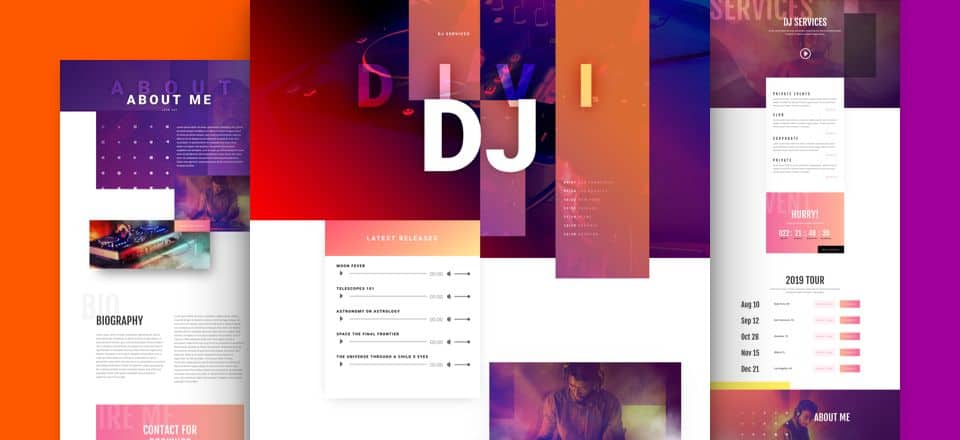 DJ Divi Layout Pack