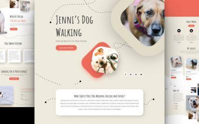 Dog Walker Layout Pack