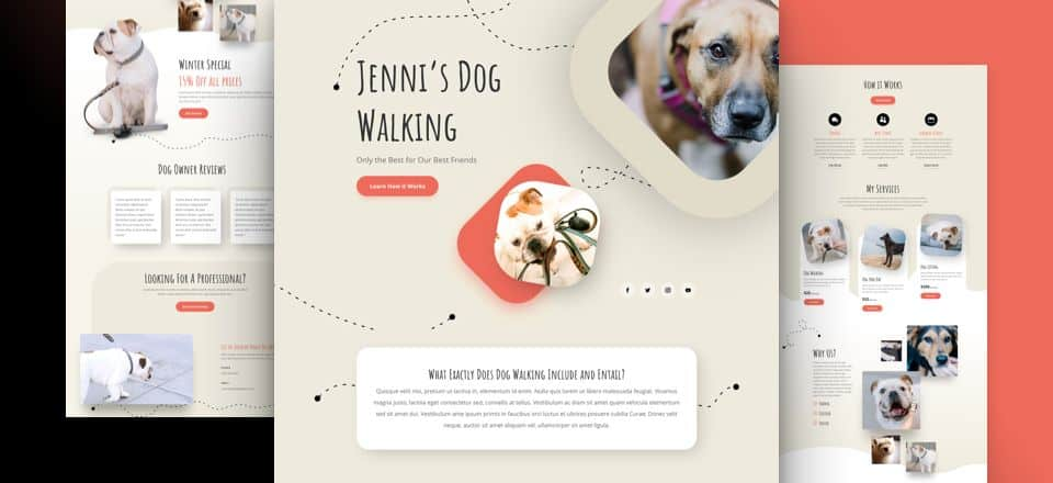 Dog Walker Divi Layout Pack