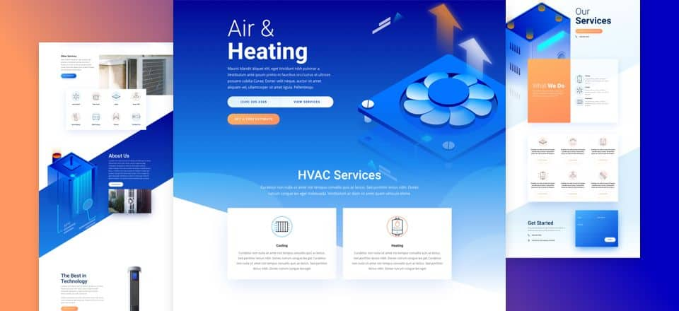 HVAC Divi Layout Pack