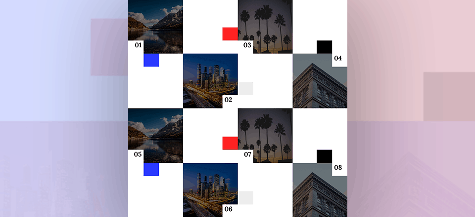 Labeling Image Corners in a Gallery Grid