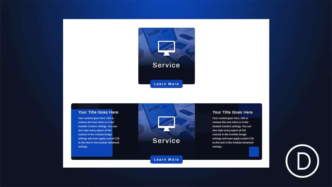 Pop Out Service Descriptions on Hover