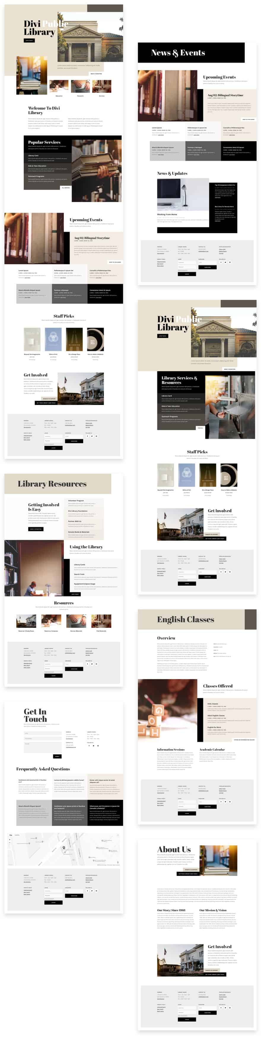 Library Divi Layout Pack