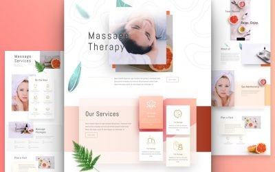 Massage Therapy Layout Pack