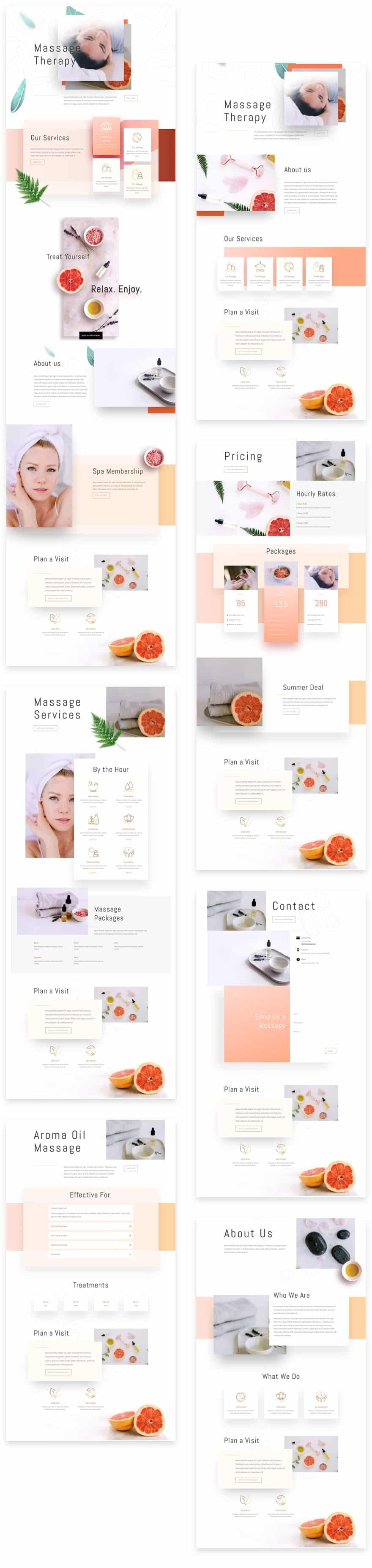 Massage Therapy Divi Layout Pack