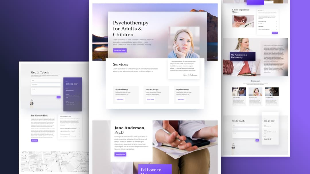 Psychologist Divi Layout Pack