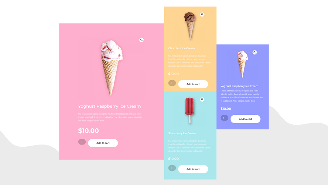 Dynamic & Vibrant Product Grid