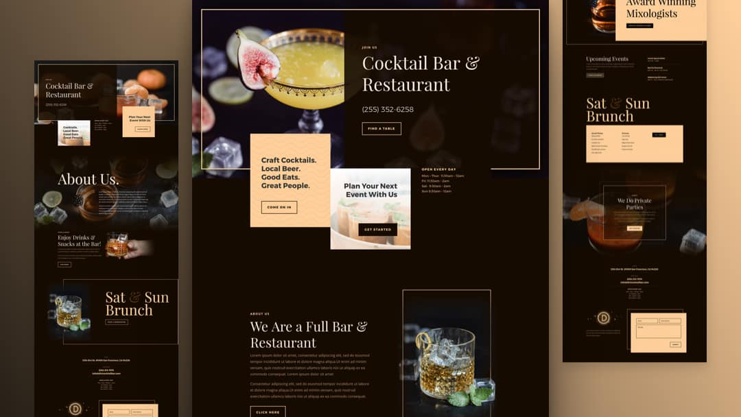 Bar Divi Layout Pack