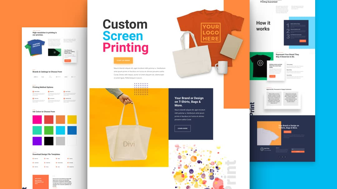 Screen Printing Divi Layout Pack