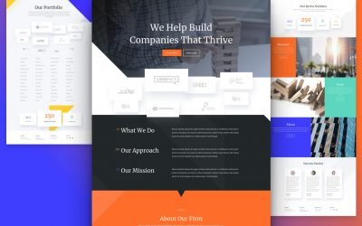 Venture Capital Firm Layout Pack
