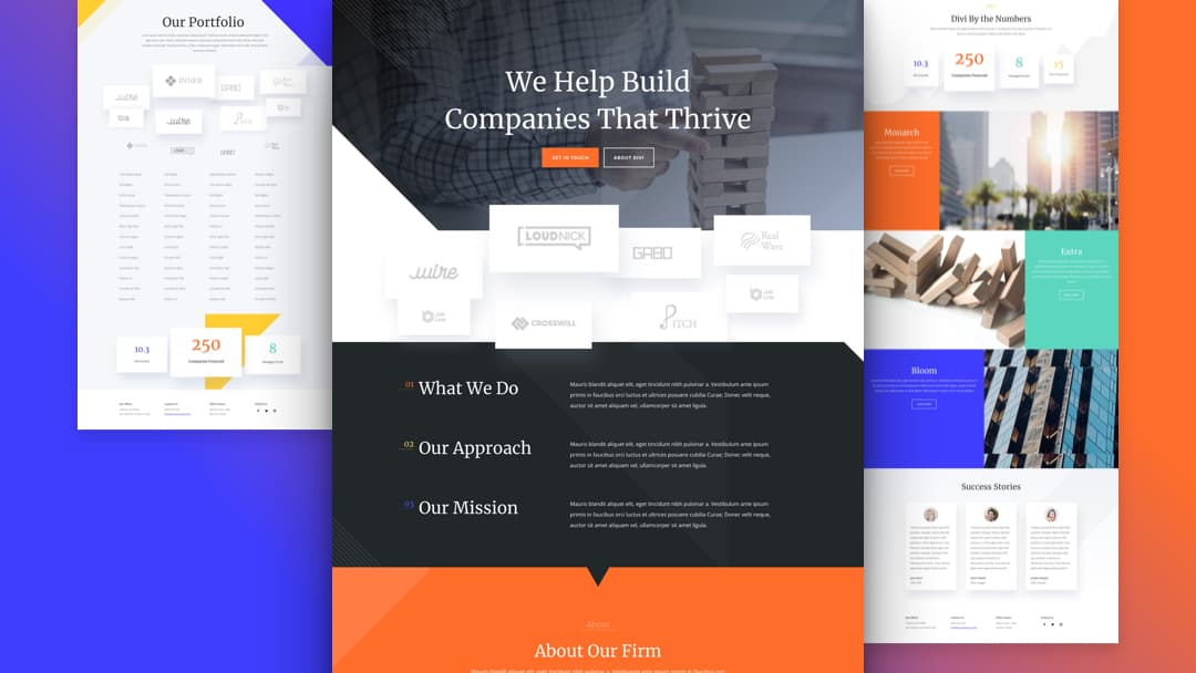Venture Capital Divi Layout Pack