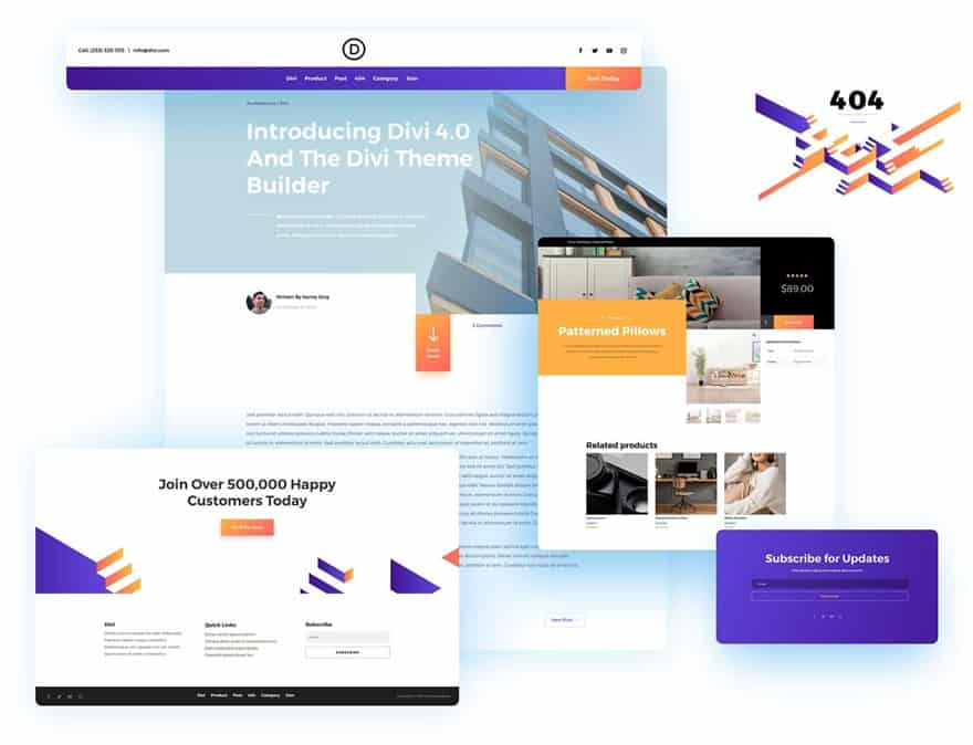 Divi Theme Builder Packs