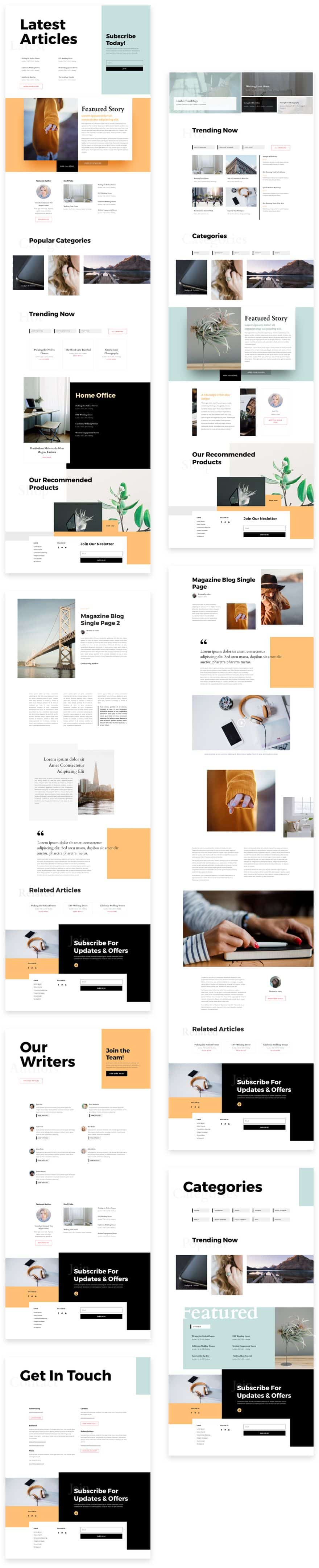 Magazine Divi Layout Pack