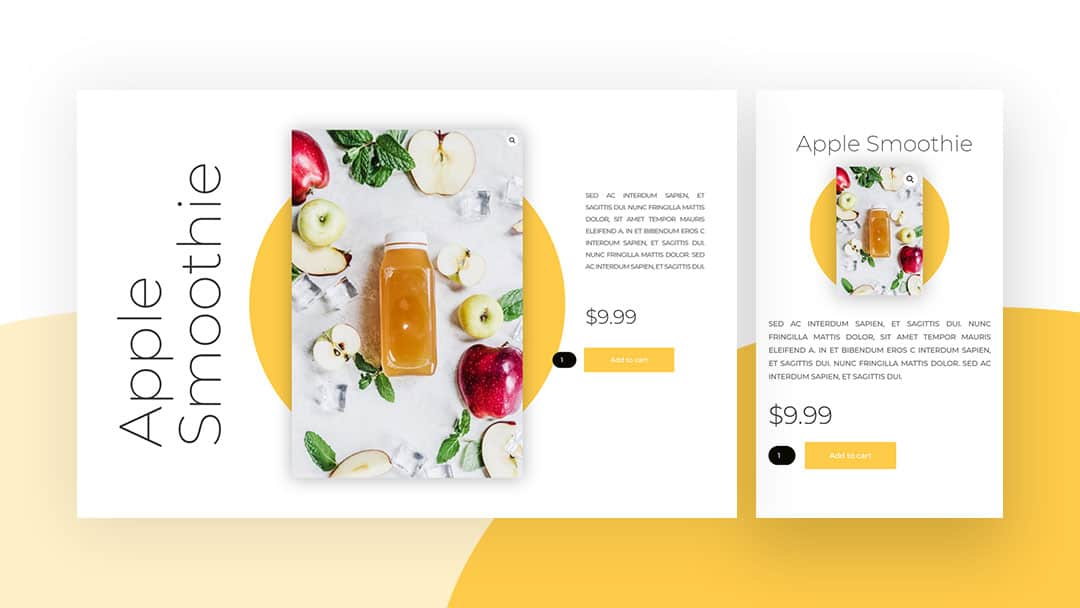 Fullscreen Product Page for Divi