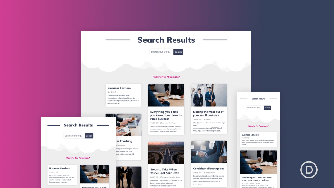 Vibrant Section Titles with Divi