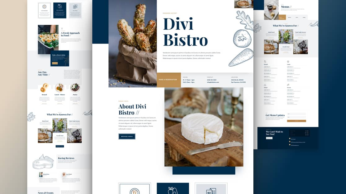 Bistro Divi Layout Pack