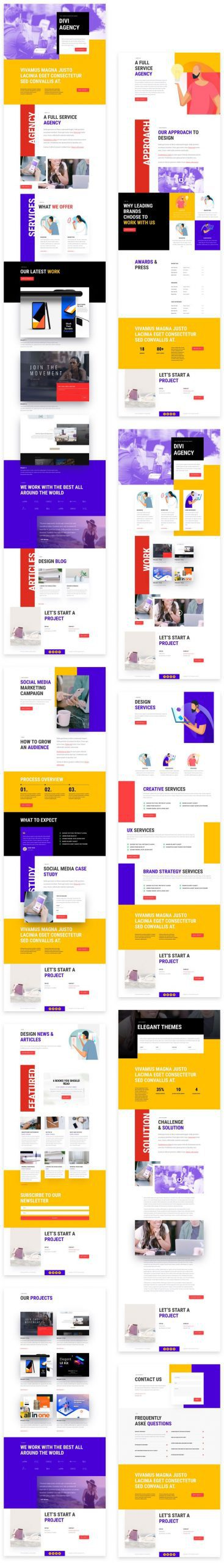 Advertising Agency Divi Layout Pack