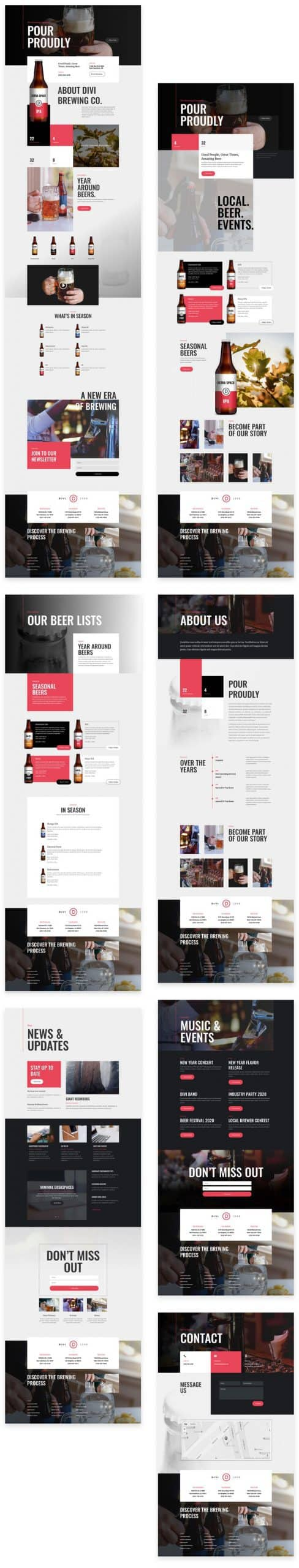 Brewery Divi Layout Pack
