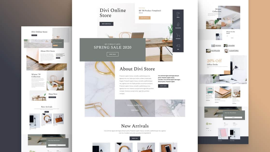 Online Store Divi Layout Pack