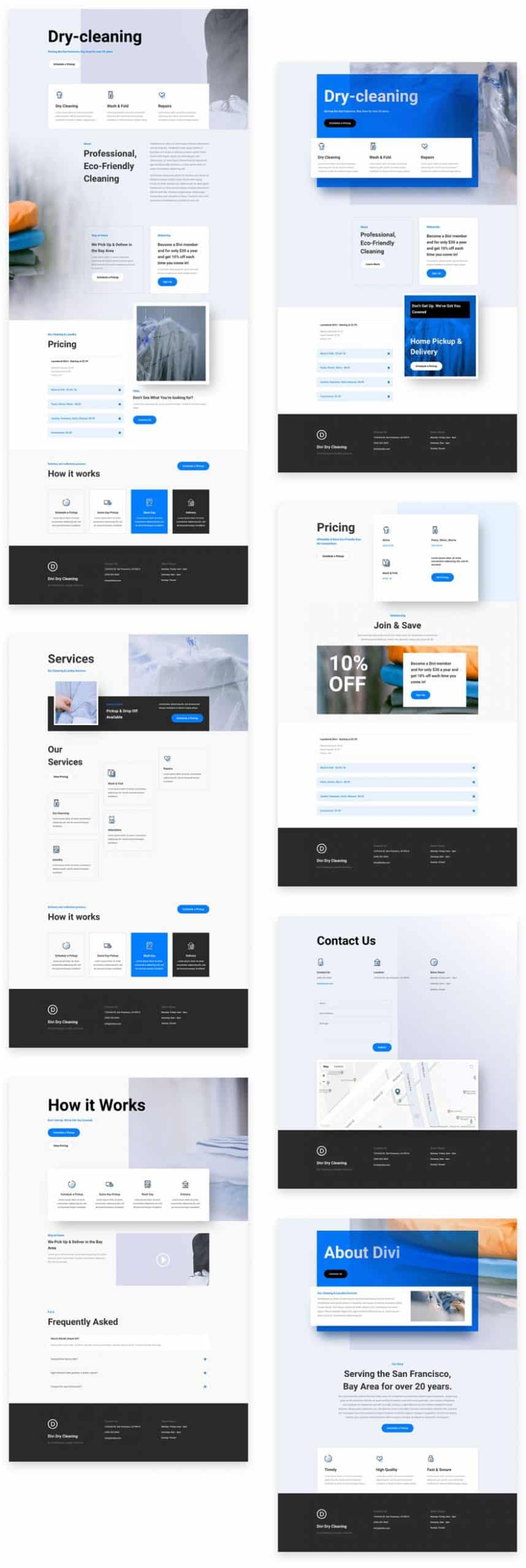 Dry Cleaning Divi Layout Pack