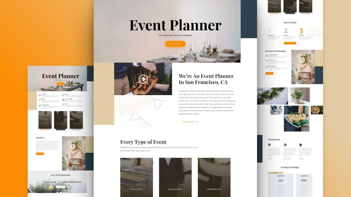 Event Planner Layout Pack