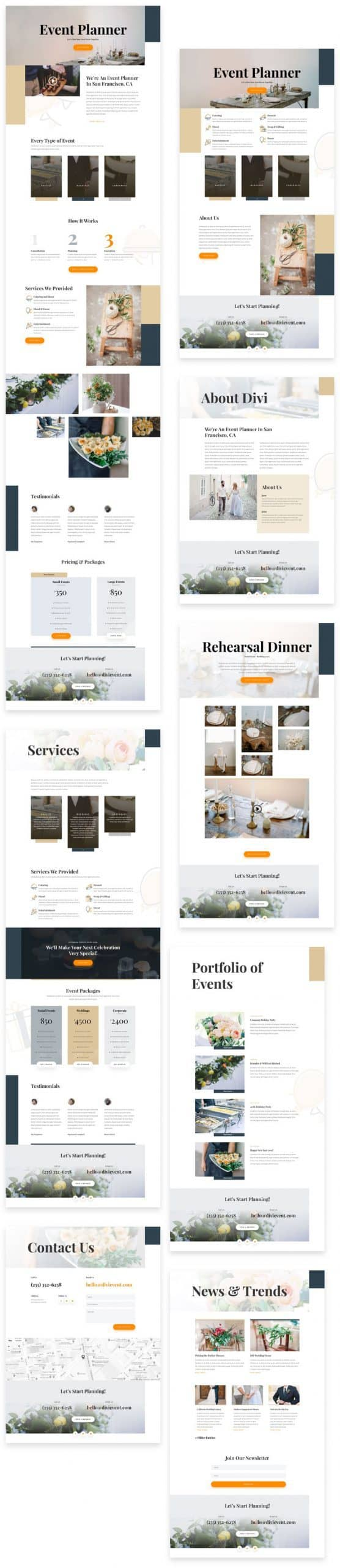 Event Planner Divi Layout Pack