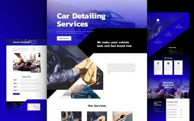 Car Detailing Layout Pack