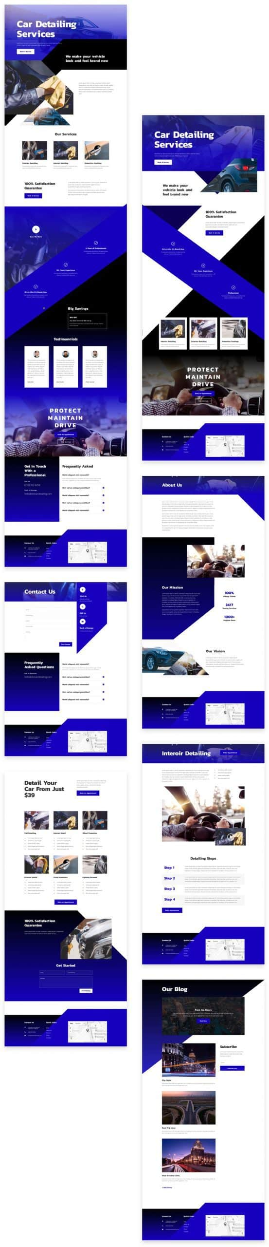 Car Detailing Divi Layout Pack