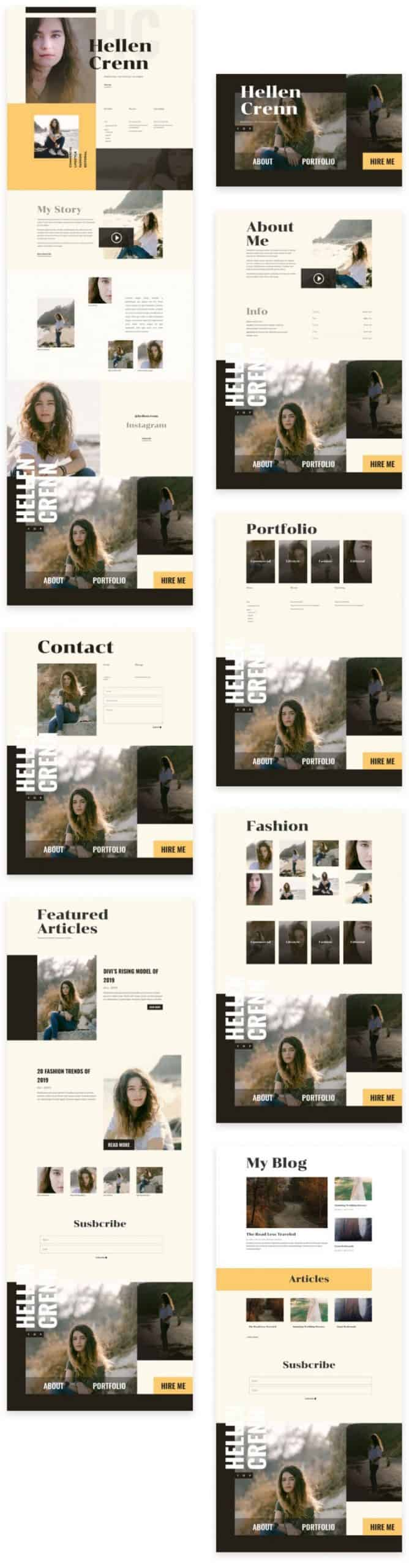 Model CV Divi Layout Pack