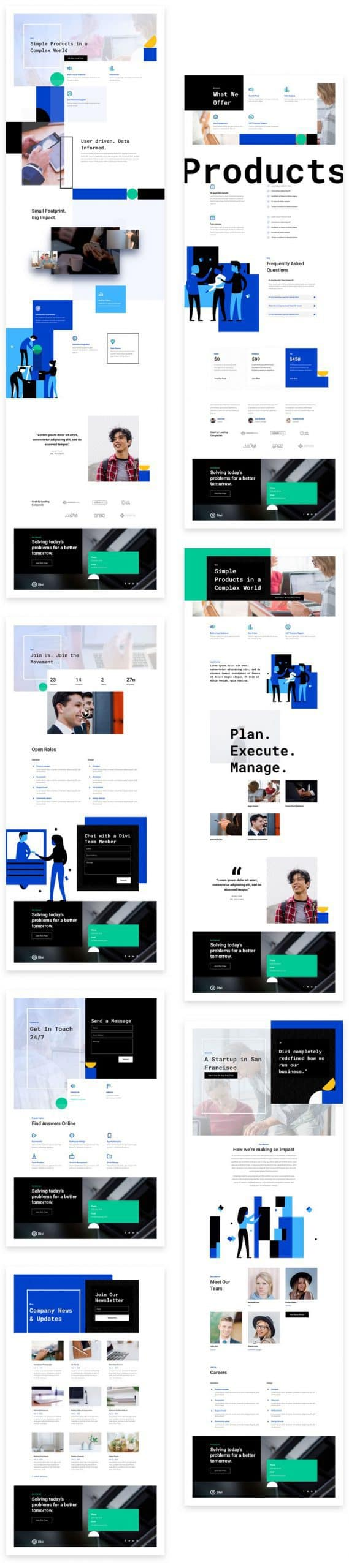 StartUp Divi Layout Pack