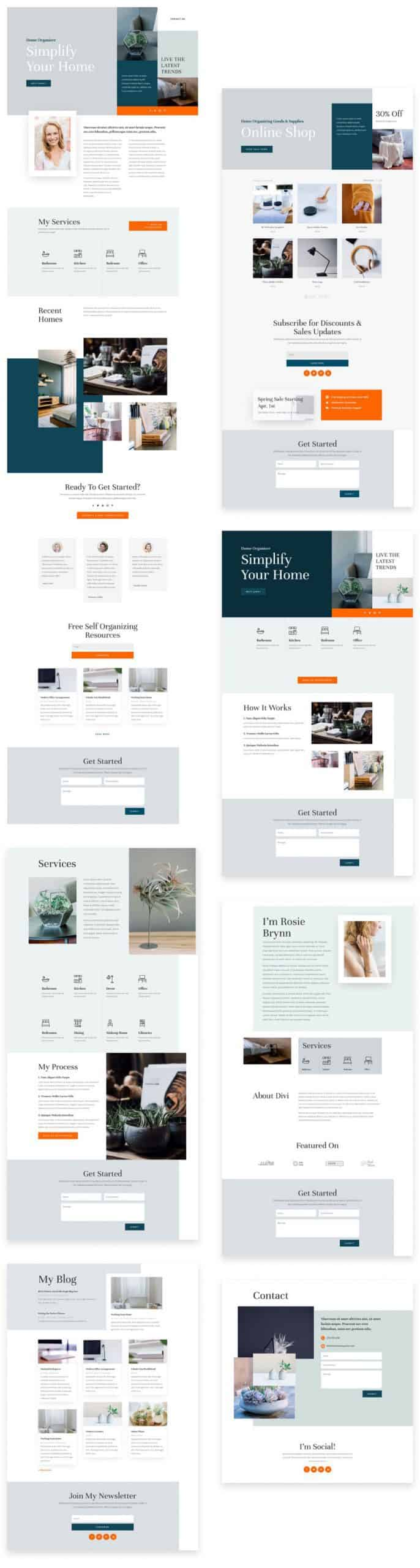 Home Organizer Divi Layout Pack