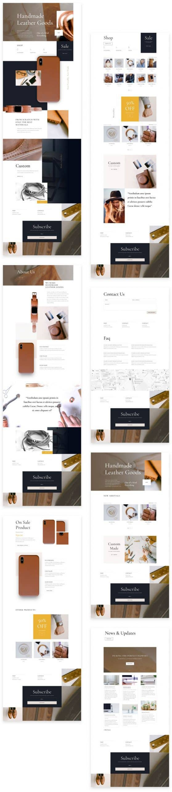 Leather Company Divi Layout Pack