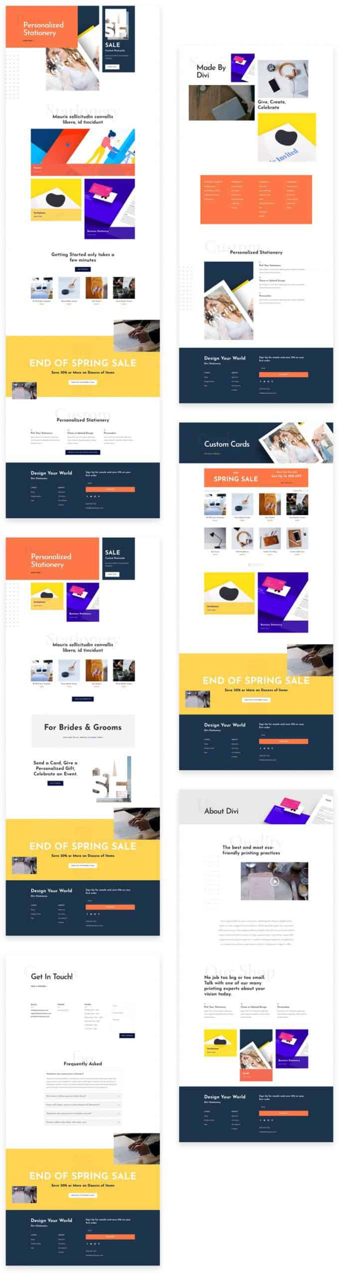 Stationery Shop Divi Layout Pack