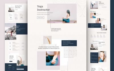 Yoga Instructor Layout Pack