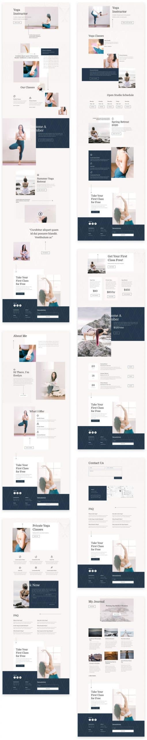 Yoga Instructor Divi Layout Pack