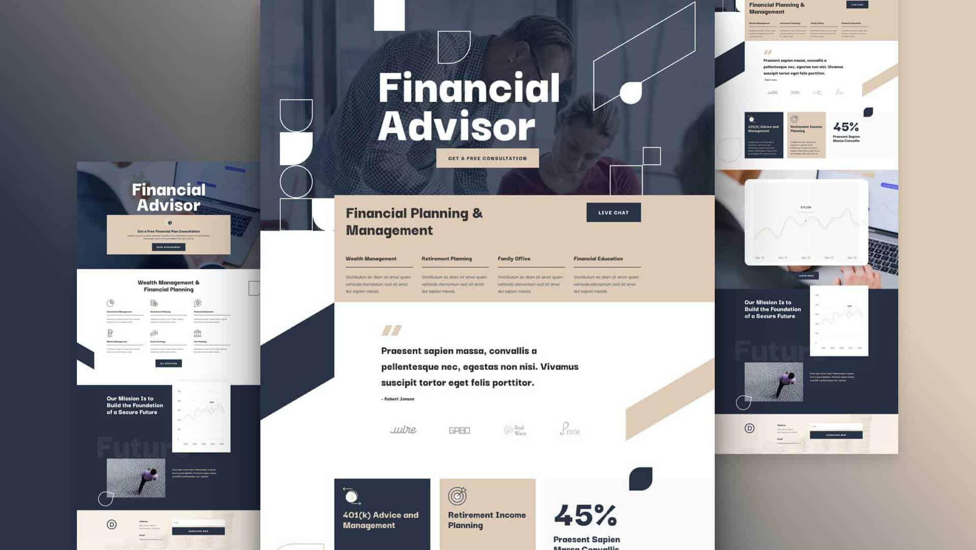 Financial Advisor Layout Pack