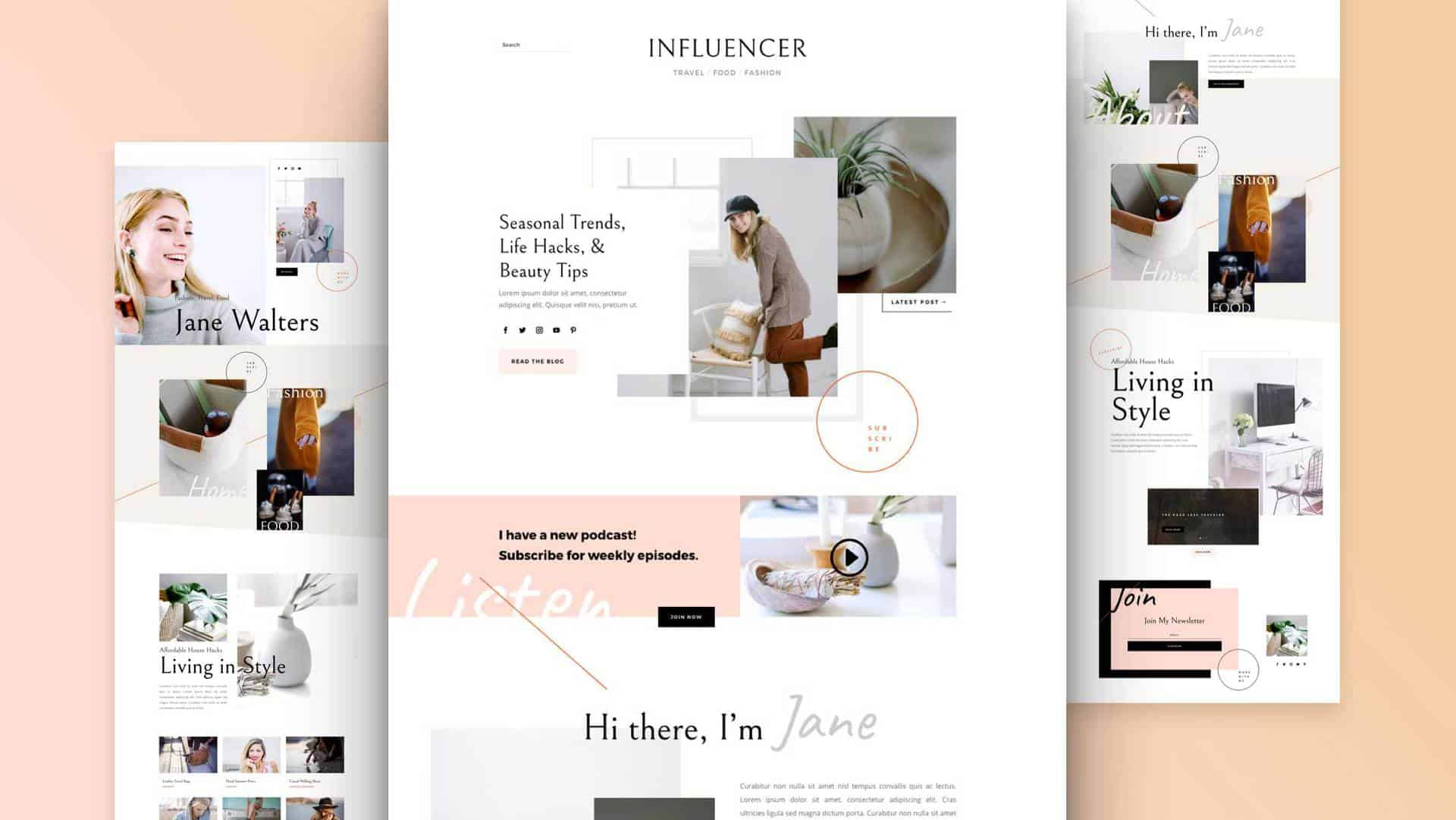 Influencer Divi Layout Pack