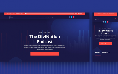 Fixed Audio Bar in Divi Header