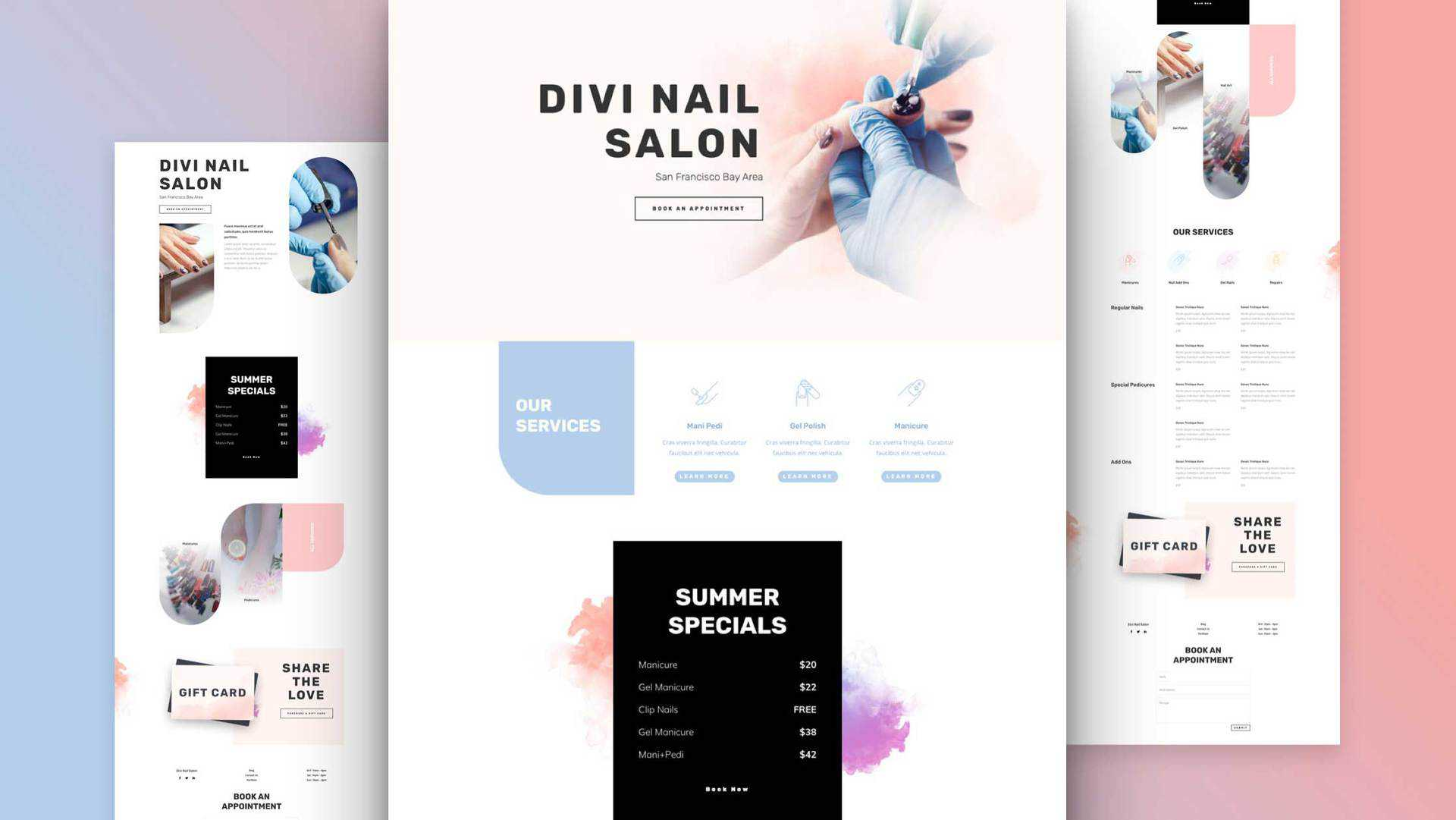 Nail Salon Layout Pack