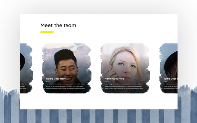 Self-Scrolling Team Members Carousel
