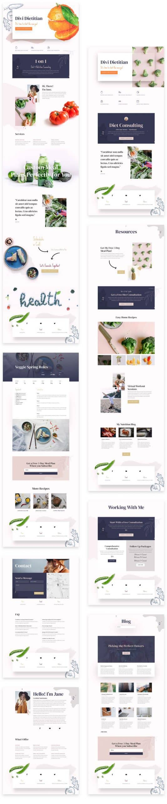 Dietitian Layout Pack