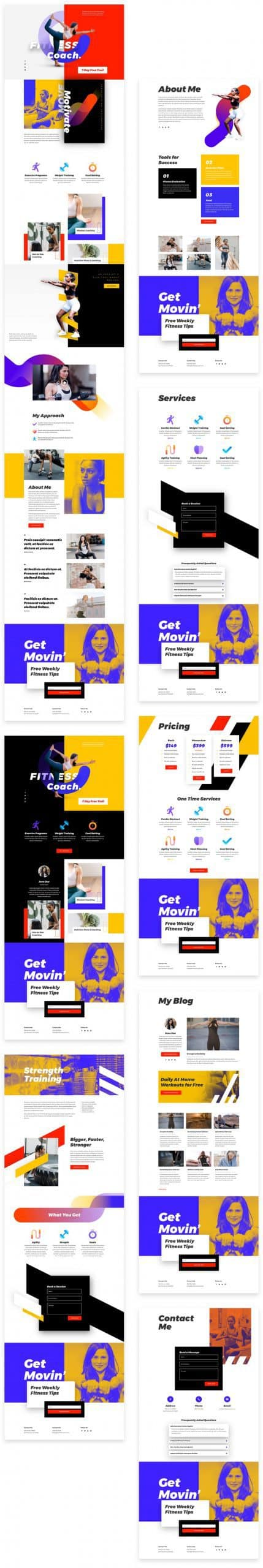 Fitness Coach Layout Pack