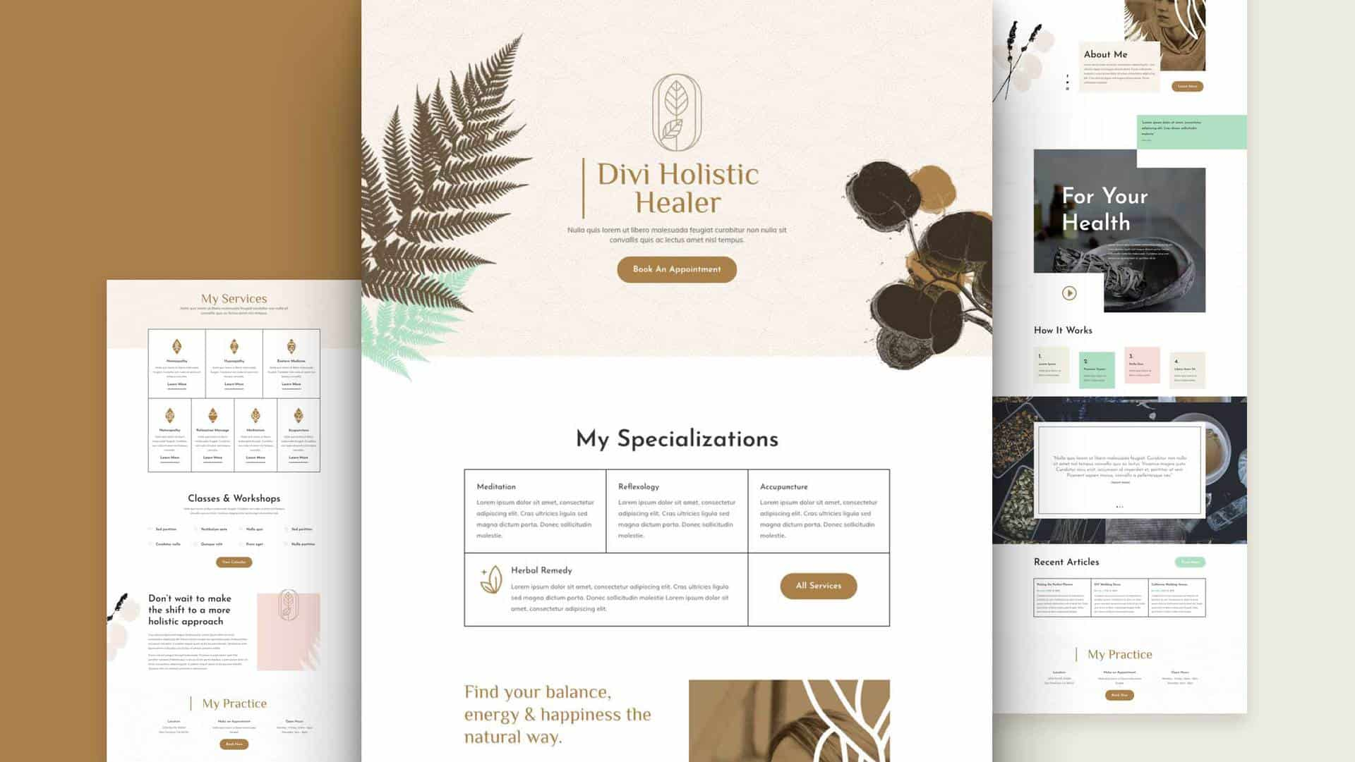 Holistic Healer Layout Pack