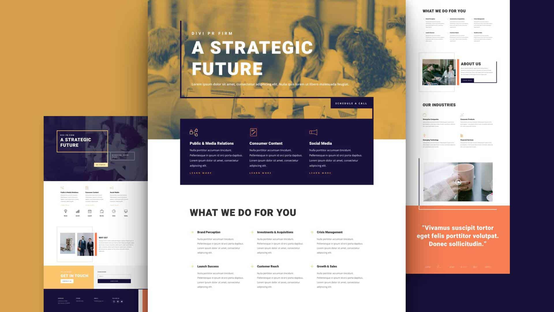 PR Firm Layout Pack