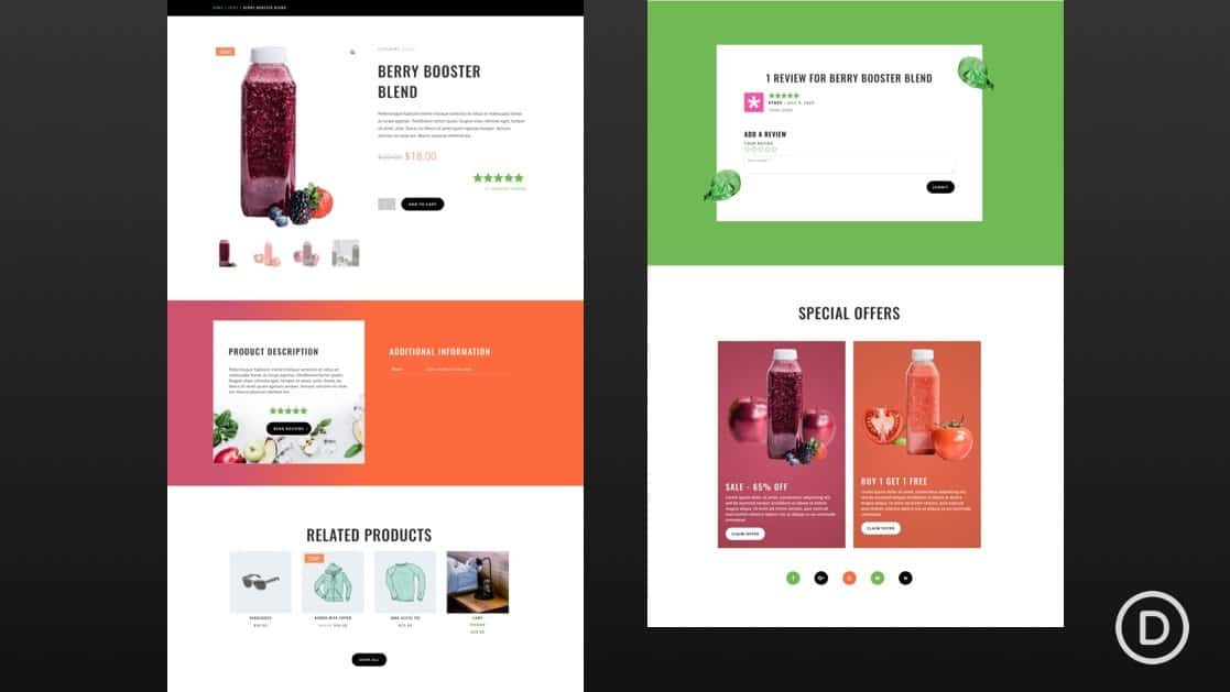 Juice Shop Product Page Template
