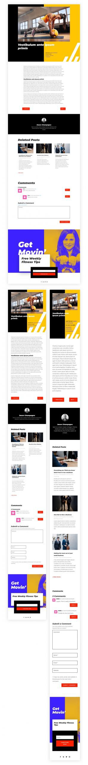 Blog Post Template for Fitness Coach Layout